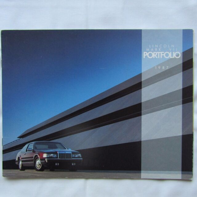 LINCOLN MARK VII MK7 Bill Blass LSC USA American Market Sales Brochure 1987