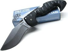 COLD STEEL Black Handle SPARTAN Straight Folding CTS BD1 Pocket Knife 21SC New!