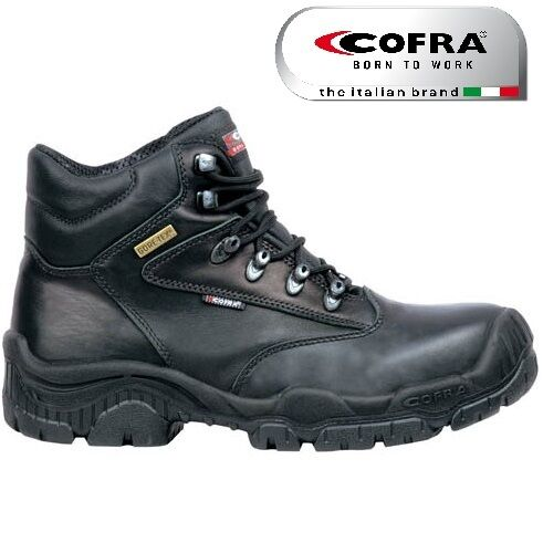 MENS Cofra New Hurricane GORE-TEX Leather Safety Steel Cap Midsole Work Boots SZ