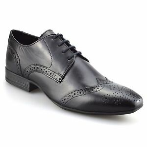 mens leather italian formal office casual smart lace up