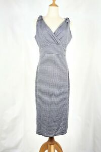 Lindy-Bop-Houndstooth-Size-12-Wiggle-Dress-Rockabilly-Swing-Pin-Up
