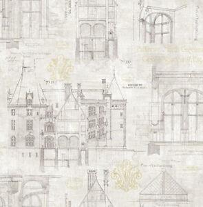 Le Prix Le Moins Cher Papier Peint,designtapete,vanderbilt,armoiries,plan,scintillant,gris,ivoire,or