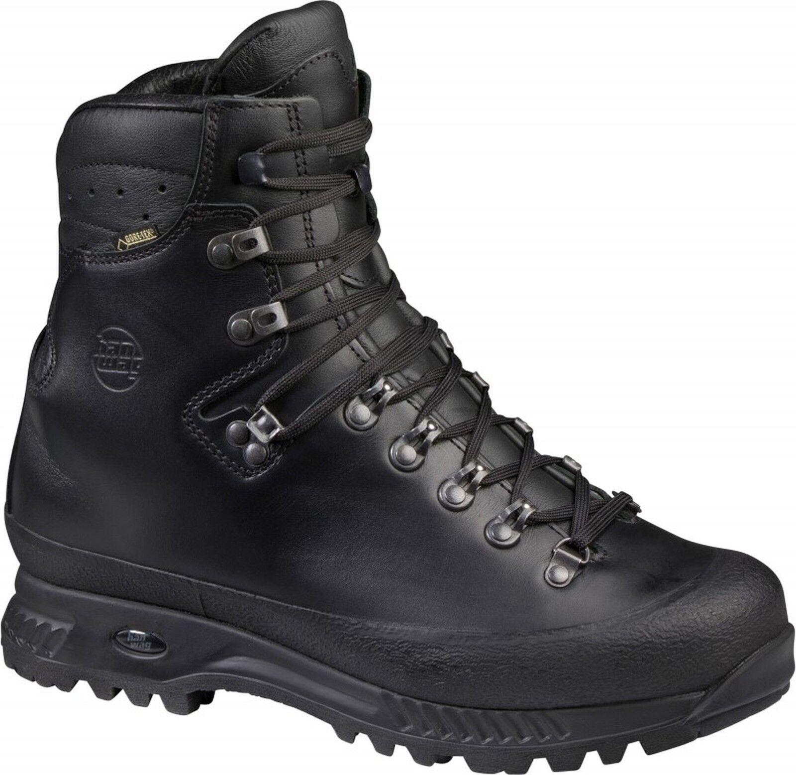 Hanwag Trekking Trekking Trekking & Bundeswehr Klassiker Alaska GTX Men Größe 7,5 - 41,5 schwarz 83bb1e