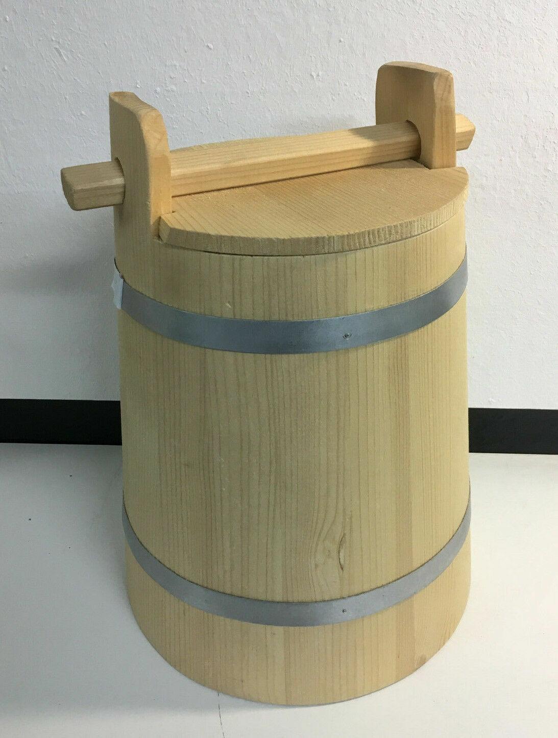 En bois bac seau de fermentation Food préserver Seau 10 L 2.6 Gal (environ 9.84 L)