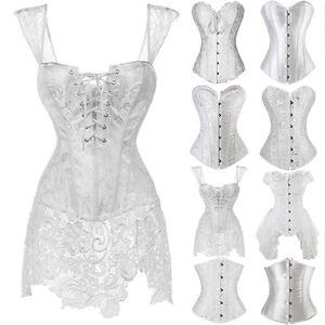 women sexy corset bustier white wedding dress waist