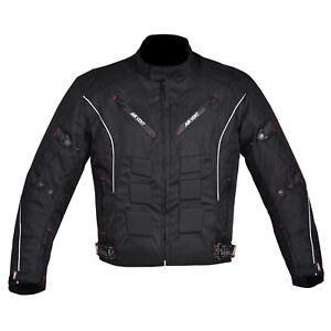 Men-039-s-Motorcycle-Motorbike-Jacket-Waterproof-Cordura-CE-Armoured-Black