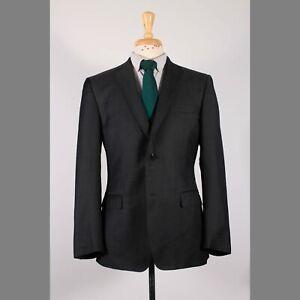 Z Zegna 40R Gray Solid Wool Two Button Sport Coat Blazer Jacket