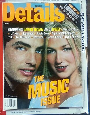 DETAILS Magazine July 1997 Jewel Jakob Dylan The Wallflowers Lil' Kim Fiona Appl