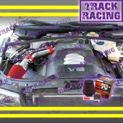 2002 2003 2004 2005 AUDI A4 A6 BASE//QUATTRO//WAGON 3.0L V6 AIR INTAKE KIT+K/&N Red