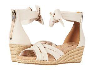 67e5b9c5674 Details about UGG Women's Traci Wedge Cream Canvas Crisscross Back Zip  Espadrille Sandal 10