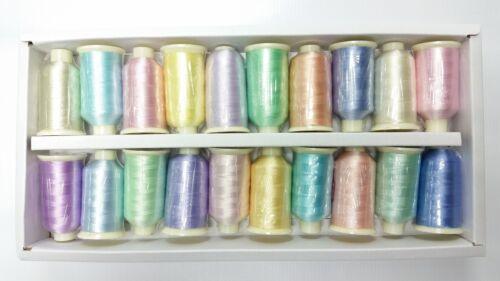 Marathon Embroidery Sewing Machine Thread Set 20 x 1000 Metre Reels