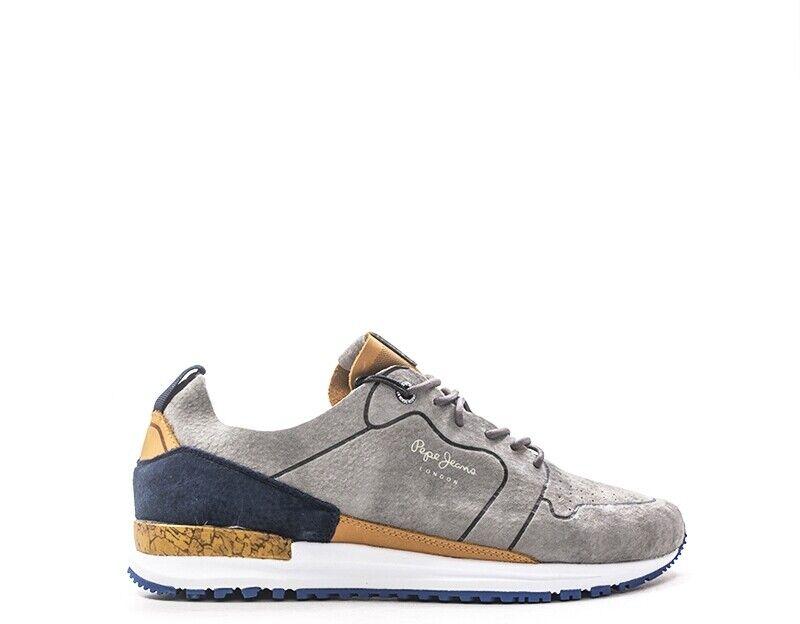 Scarpe  Pepe Jeans Man scarpe da ginnastica Trendy grigio Suede PMS30411 -945G  shopping online e negozio di moda
