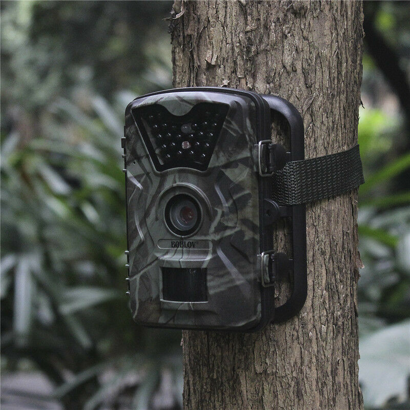 HD 1080P 12MP Hunting Scouting Trail Camera Outdoor Wildlife 24x IR LED 2.4  LCD