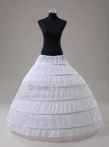 Black//White 6 HOOP Ball Gown Wedding  Bridal Promo Crinoline Petticoat Slip UK