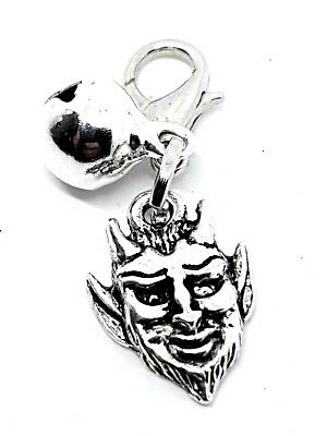 Metal Devil Charm For Cat Dog Pet Collar Purse Bracelet Clip Silver