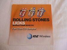 Rolling Stones - Licks World Tour 2002/03 FAN CLUB CD SAMPLER SEALED