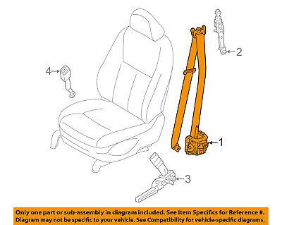 infiniti oem 14-17 q50 front seat belts-belt & retractor right 868844hb0a,  black   ebay  ebay
