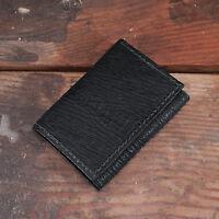 Black Shark Trifold Wallet Amish Hand Made From Genuine Shark Skin Tri Fold