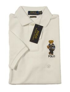 Details about Polo Ralph Lauren Men's Deckwash White Polo Bear Custom Slim Fit S/S Polo Shirt