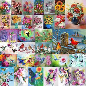 5D-DIY-Drill-Diamond-Painting-Flower-Birds-Embroidery-Cross-Stitch-Mosaic-Decor
