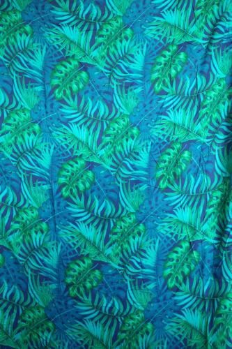 Feuillage tropical Laisse largeur 149 cm rayonne artisanat coudre robe tissu par mètre