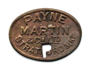 "Stratford Market ""Payne Martin & Co. Ltd"" 1 Shilling 31mm Token"