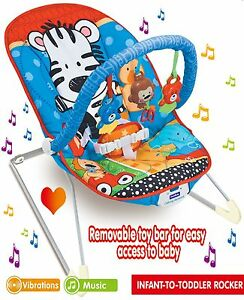 Baby-Musical-Swinging-Bouncer-Chair-Toddlers-Lullaby-Vibration-Safety-Rocker-UK