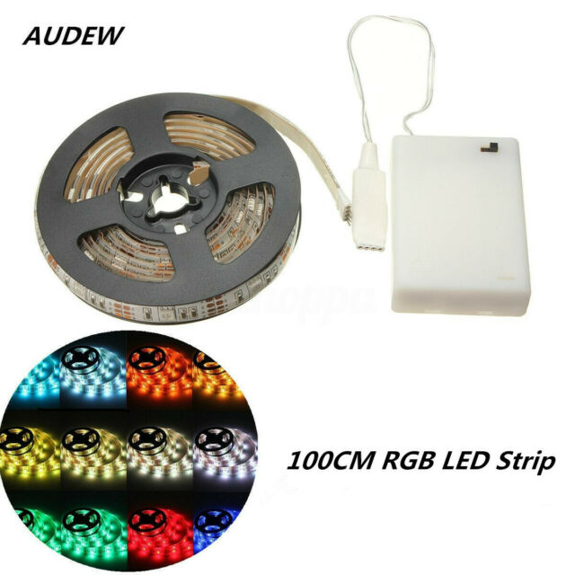 100CM RGB 5050SMD LED Strip Light Battery Operated Waterproof Color