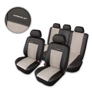 Schwarz-graue Sitzbezüge für AUDI TT Autositzbezug VORNE