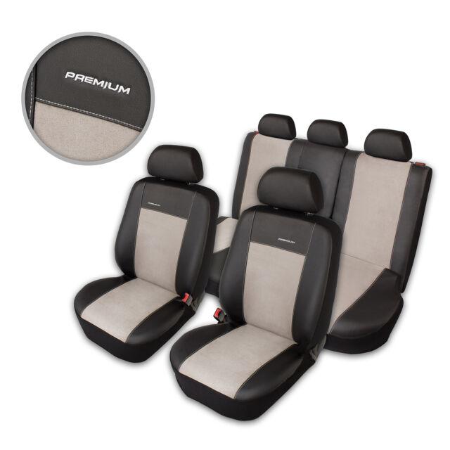 Premium Kunstleder Sitzbezüge Sitzbezug Schonbezüge für Opel Astra Grau Set