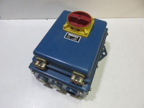 Demag DT63 47303944 63A 500V  Hauptschalter Gehäuse Sicherungen Ex