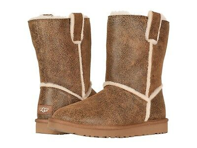 de88bc171d8 Women's Shoes UGG Classic Short Spill Seam Bomber Boots 1098409 CHESTNUT  *New* | eBay