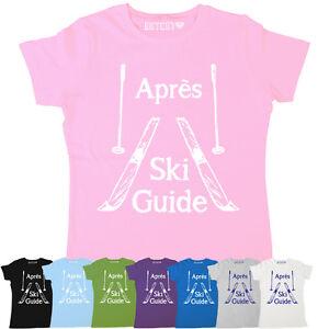 apres-ski-guide-damen-winter-ski-snowboard-fun-neuheit-bedrucktes-t-shirt