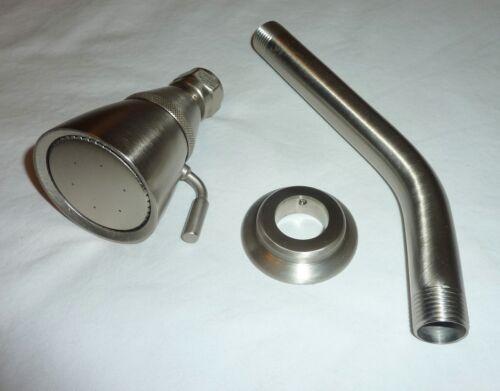 Paul Decorative 2.25-Inch Adjustable Shower Head /& Flange SATIN NICKEL Arm