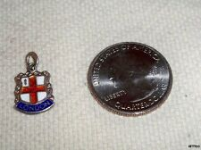 Vintage Sterling Silver TOURIST Souvenir Charm Enamel LONDON TRAVEL SHIELD
