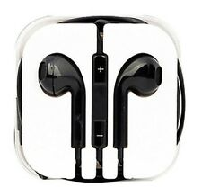 New Black Colour Headphones Earphone Handsfree With Mic For iPhone Models
