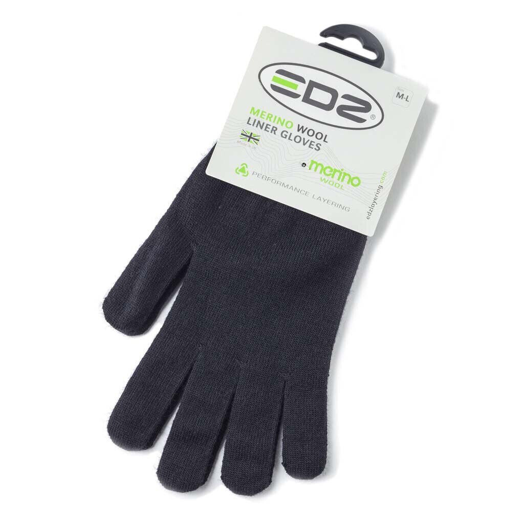 Edz Merino Wool Thermal Inner Liner Motorcycle Gloves Black Winter Bike Under Ebay