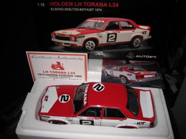 BIANTE 1 18 HOLDEN LH L34 TORANA HDT  2 1974 BATHURST 4th BOND SKELTON   87465