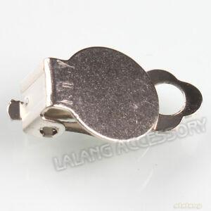100pcs-160320-Wholesale-New-Bulk-Flat-Pad-Clip-On-Earring-Earwires-Findings-17mm
