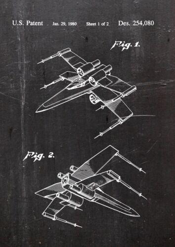 Fine Art-Print in Galeriequalität A4 Seite 2 Star Wars X-Wing Patent Art 01