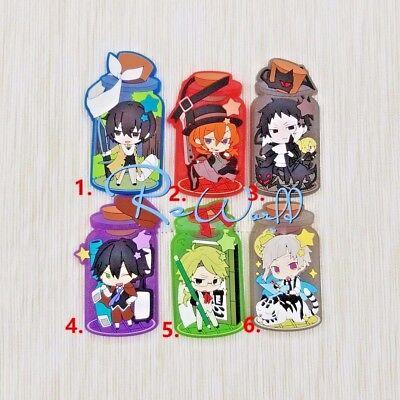 Hot Japan Anime Bungo Stray Dogs Dazai Rubber Strap Keychain Pendant FL314