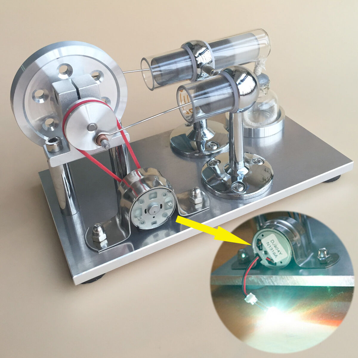Caliente Air Stirling Engine modello Physics Education Micor energia Generator Engine giocattolo