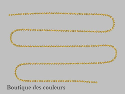 4 METRES DE CHAINE BOULES METAL DORE DIAMETRE 1,5mm CREATION BIJOUX