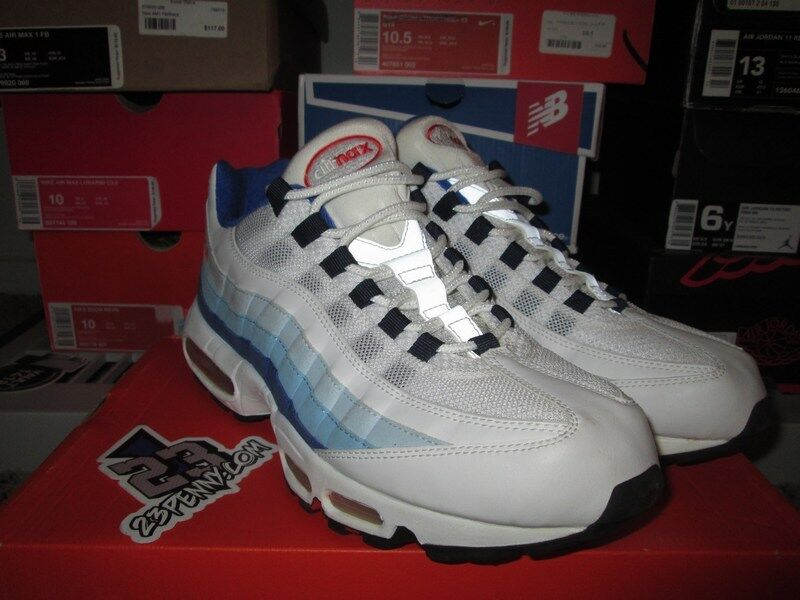 NIKE AIR MAX 95 ATHENS SIZE 11.5 blueE RED WHITE GREY NIKEID ID