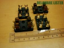 Vintage Lot Of 4x Double 2 Postion Chassis Mount Littelfuse Fuse Holders 357