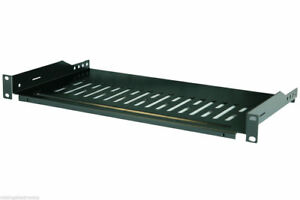 Cantilever-Server-Shelf-Vented-Black-Shelves-Rack-Mount-19-034-1U-12-034-300mm-Deep