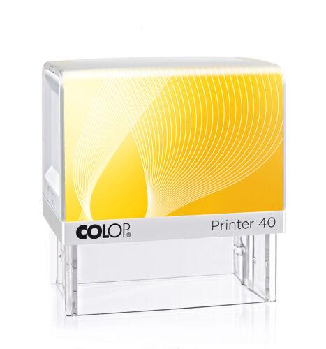 6 Zeilen Selbstfärber Onlinedesigner Colop® Printer 40 Stempel 59x23mm