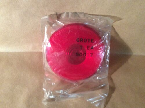 """NOS Grote 90012 4"""" RED Lens F/Snap Rng Lmp Red """""""