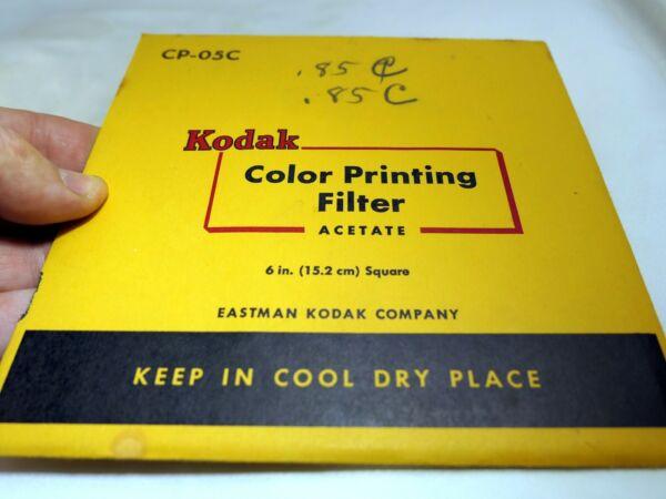 Dynamique Kodak Couleur Impression Lentille Filtre 15.2x15.2cm Gélatine Carré Cp-05c Léger