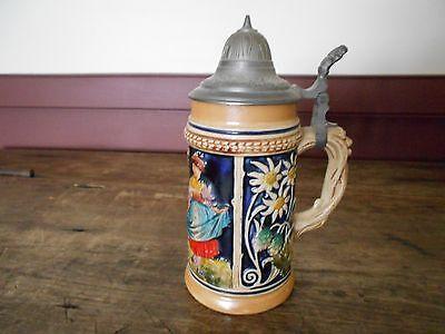 Vintage German Stein  No Lid  Half Liter  Germany